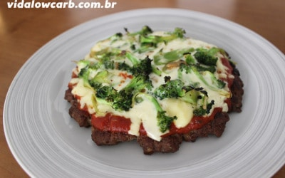 Receitas Low Carb | Pizza de carne