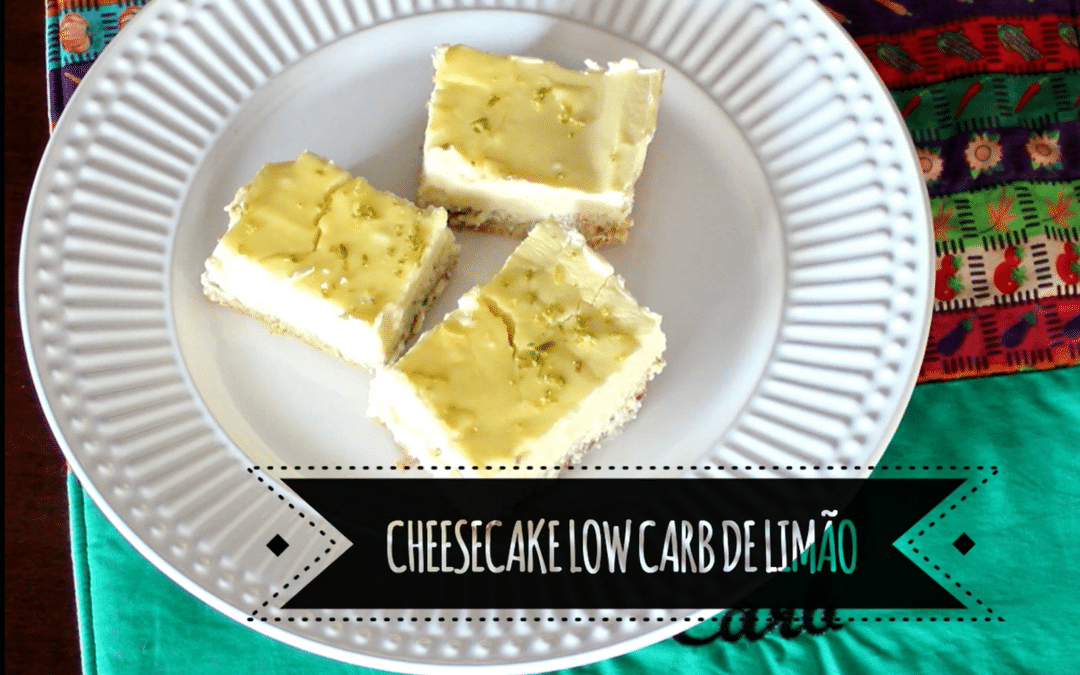 Cheesecake Low Carb de Limão