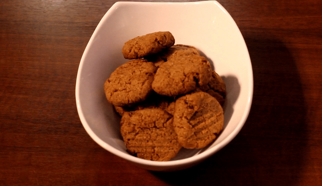 Cookie low carb de manteiga de amendoim