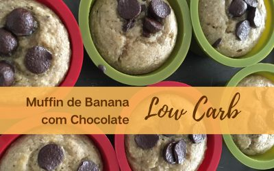 Muffin de Banana Low Carb com Chocolate