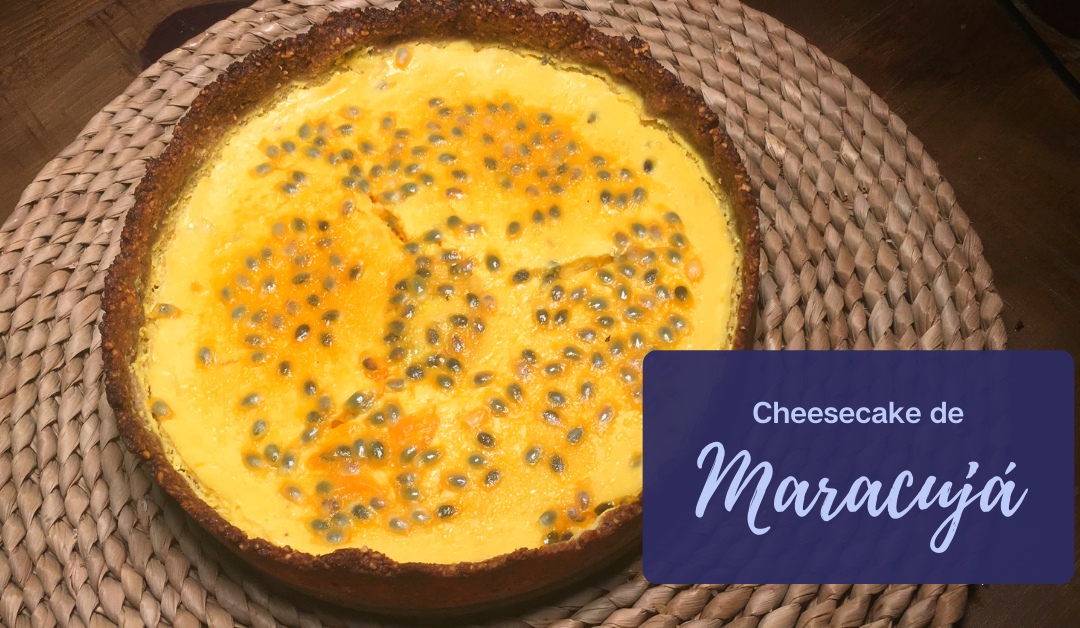 cheesecake de maracujá low carb