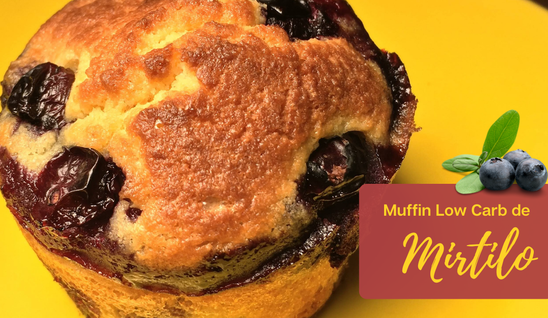 muffin de mirtilo low carb